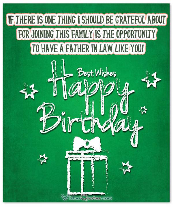 Father In Law Birthday Wishes