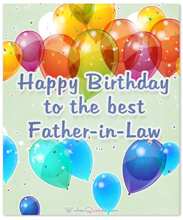 Father In Law Birthday Wishes Messages And Cards