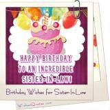 Sister In Law Birthday Wishes Featured