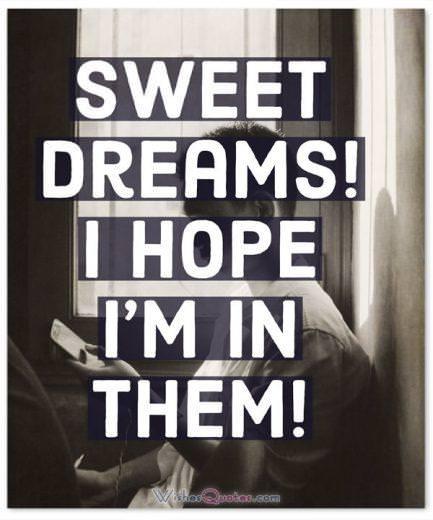 Flirty Text Message Sweet Dreams