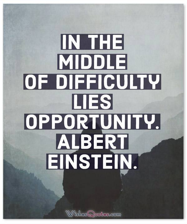 Difficulty Lies Opportunity