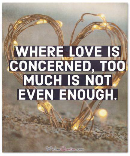 Where love is concerned, too much is not even enough.