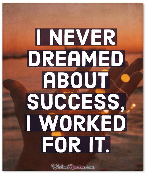 Dreamed About Success
