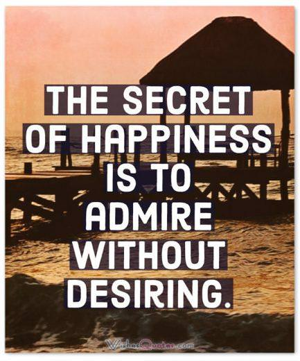 Happiness Quotes Money Admire Without Desiring