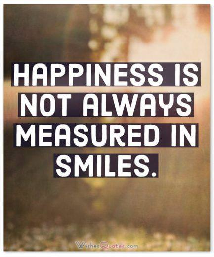 Happiness Quotes Not Measured In Smiles
