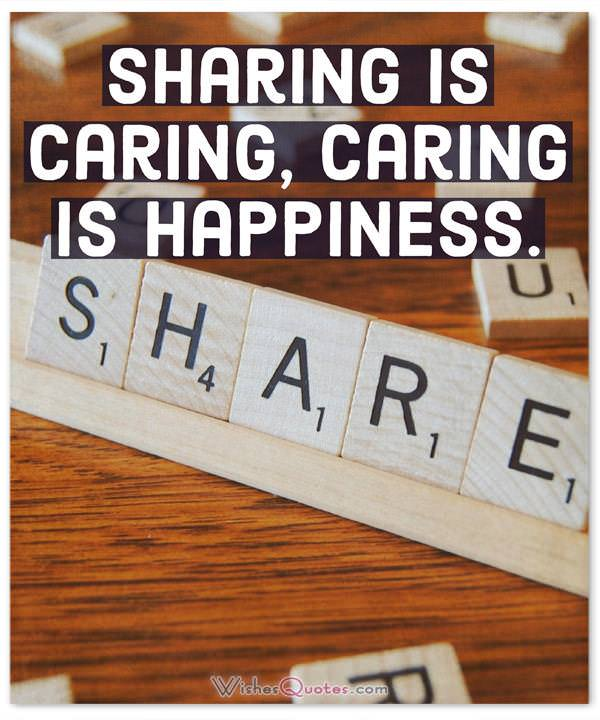 Happiness Quotes Sharing Is Caring