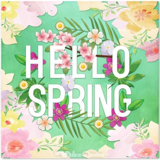 Hello Spring Cards With Flowers