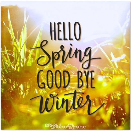Hello Spring Good Bye Winter