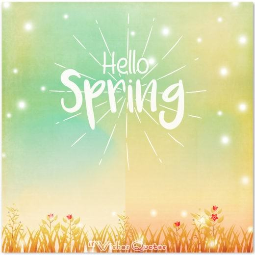 Hello Spring Green Card - Spring Quotes