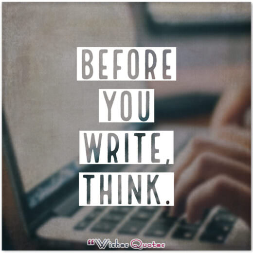 Before You Write, Think