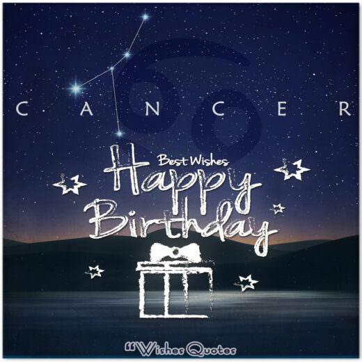 Cancer Birthday Wishes - Birthday Wishes By Zodiac Sign