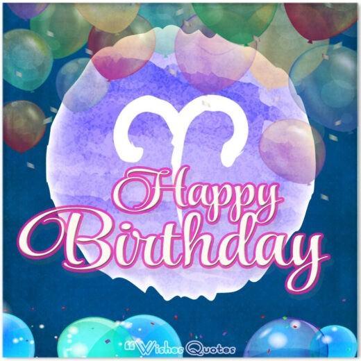Happy Birthday Aries