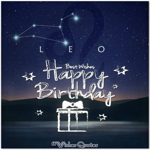 Leo Birthday Wishes - Birthday Wishes By Zodiac Sign