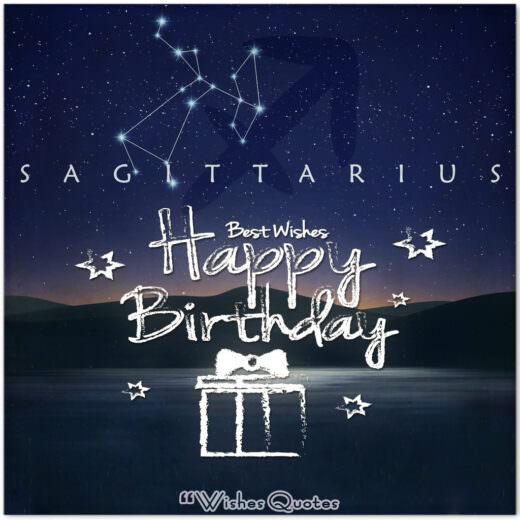 Sagittarius Birthday Wishes