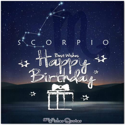 Scorpio Birthday Wishes - Birthday Wishes By Zodiac Sign