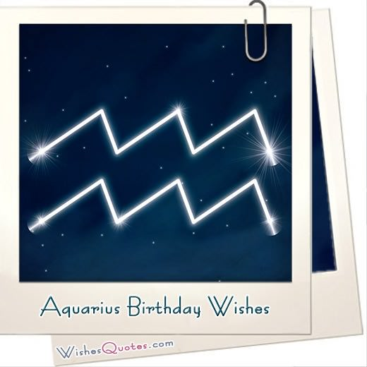 Aquarius Birthday Wishes And Messages