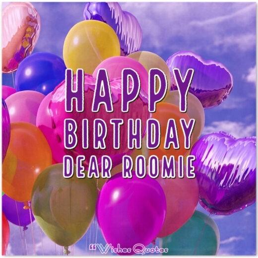 Happy Birthday dear roomie